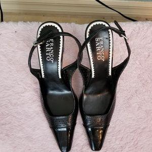 Franco Sarto Black Patten Leather